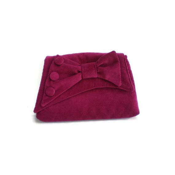 1930's Vintage Inspired Clutch Bag Dark Pink by MissTreeCreations, $60.00