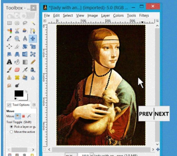 Turn paintings into gifs
