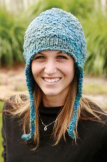 Moguls Earflap Hat by Leslie Taylor