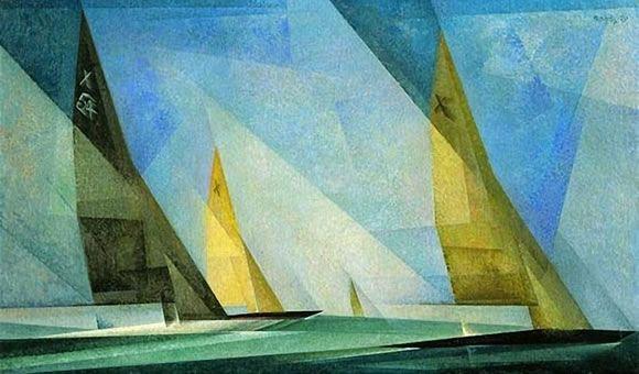 """""""Veleros"""" (1929)- Lyonel Feininger (Expresionismo) (Estados Unidos) (1871-1956)."""