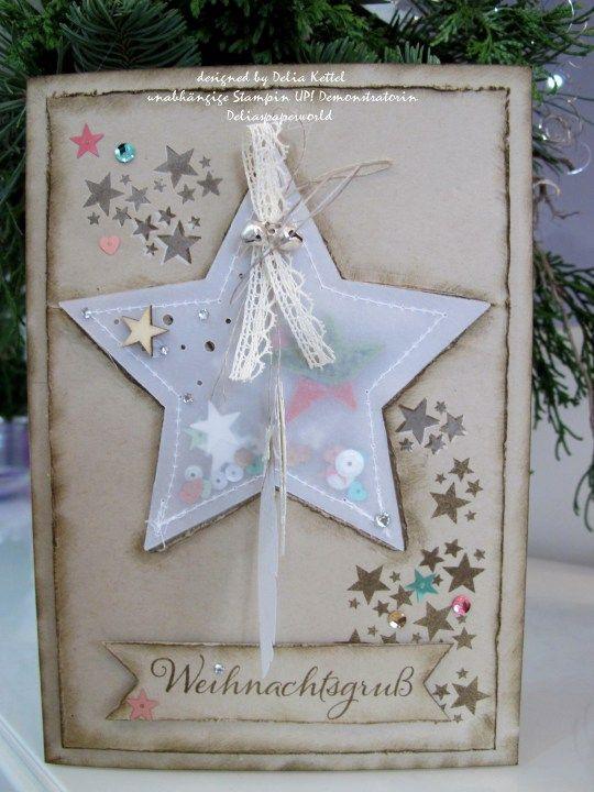 Weihnachtskarte mit Vellum-Stern / Stampin`UP!