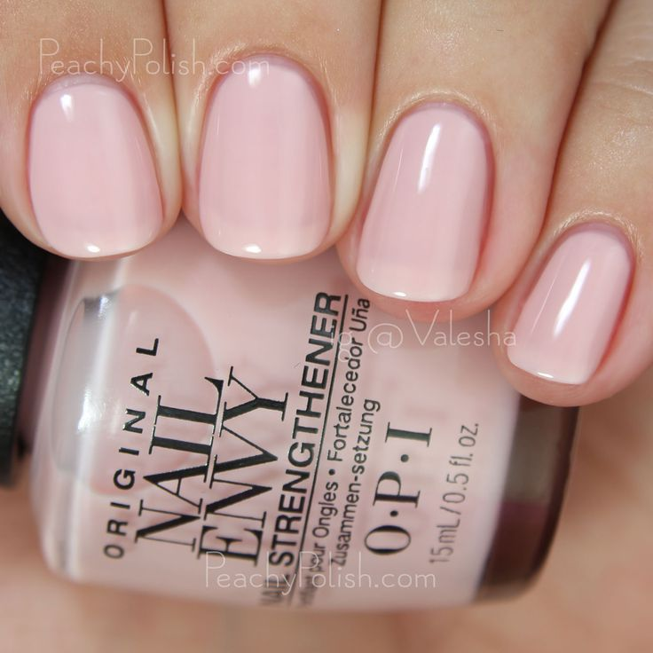 OPI Bubble Bath | Nail Envy Strength In Color Collection | Peachy Polish