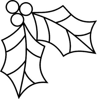holly leaf printable template