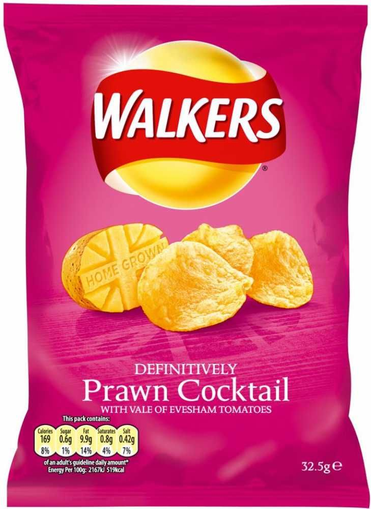 Walkers Prawn Cocktail Crisps from England. I was addicted to these when i lived over there.