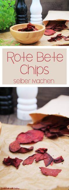 Rote Bete Chips selber machen, ein gesunder Snack für zwischendurch. #rotebete #chips #gemüsechips #rotebetechips #gemüse #gesund #herbst #selbermachen #rezept #candbwithandrea #foodblog #blog #cookandbake