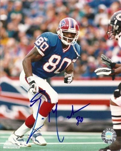 Eric Moulds , Buffalo Bills, Texans, Titans, Signed, Autographed, 8x10 Photo, Coa, Rare Hard Photo to Find