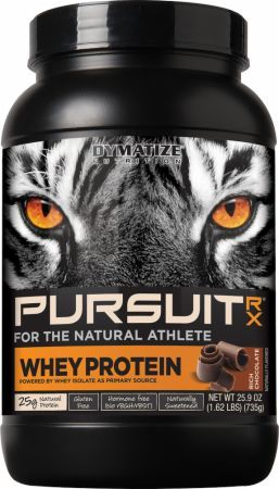Dymatize Pursuit-Rx All Natural 100% Whey Protein Helps Repair And Rebuild Your Muscles!* Get the lowest prices on Pursuit-Rx All Natural 100% Whey Protein at Bodybuilding.com!
