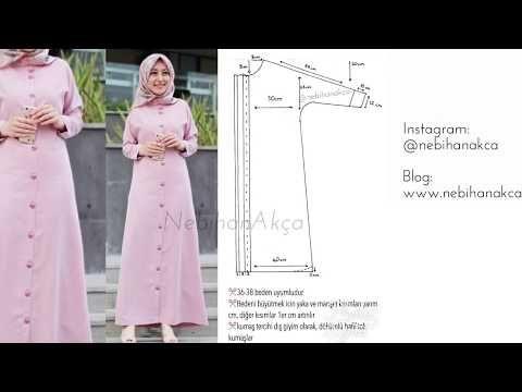 Kendinden Patlı Elbise-Ferace Kalıbı ve Dikimi - YouTube