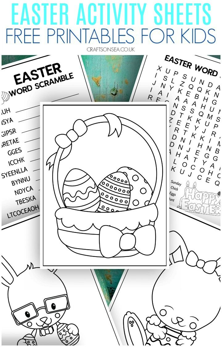 Easter Activity Sheets 10 Pages Of Free Printables Easter Activities Activity Sheets For Kids Easter Coloring Pages