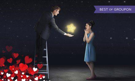 immagine per Per San Valentino regala una stella con il nome di chi ami