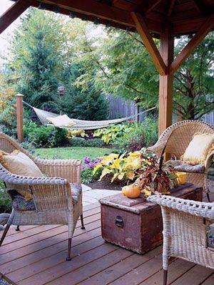 Pretty covered deck....