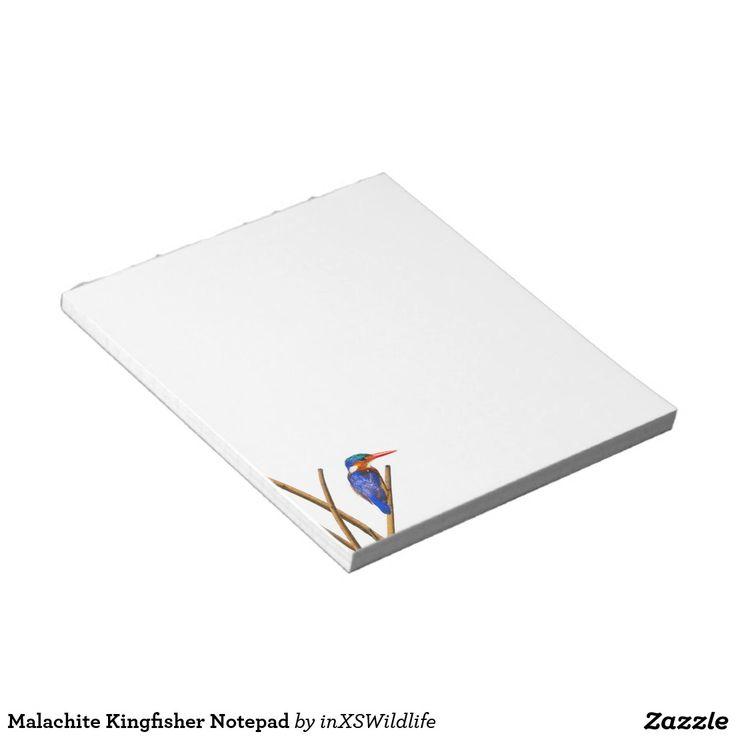 Malachite Kingfisher Notepad