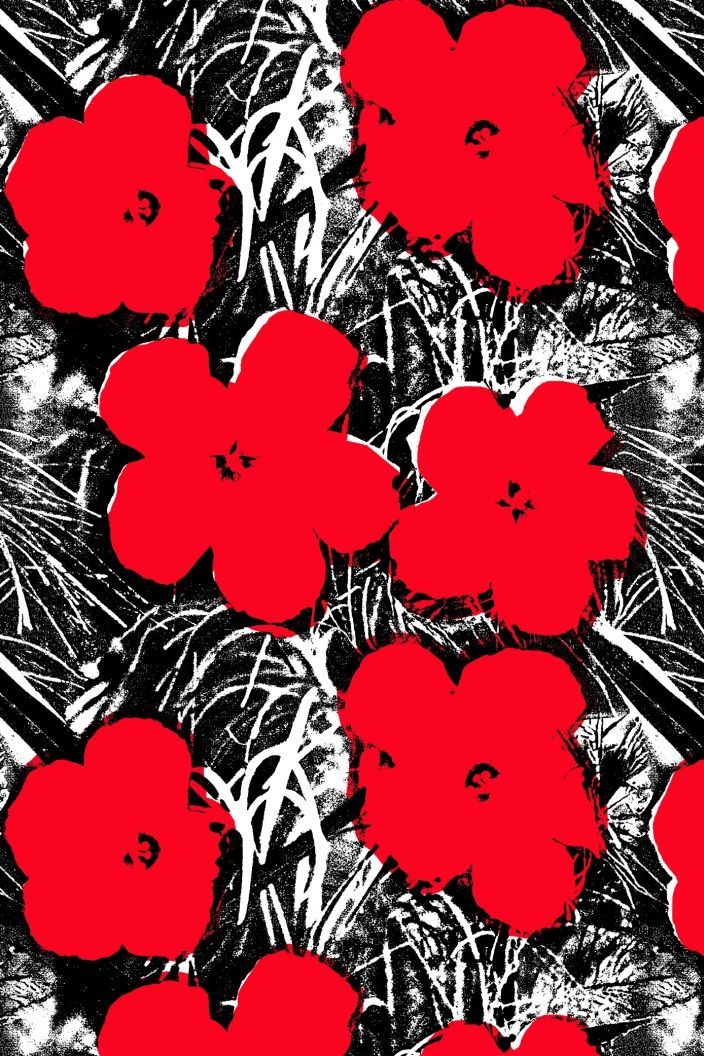 Small Flowers · Flavor Paper Red art print, Red art