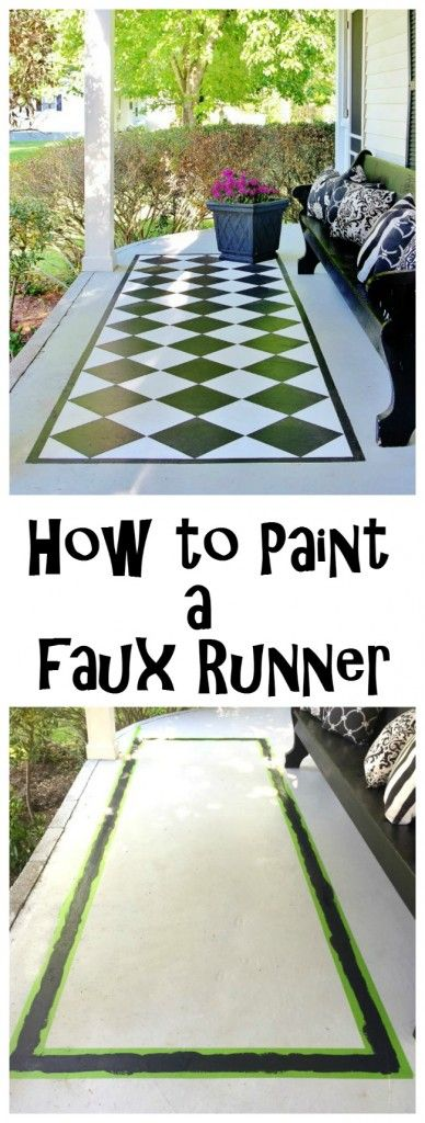 Faux Painted Floor Runner                                                                                                                                                                                 More