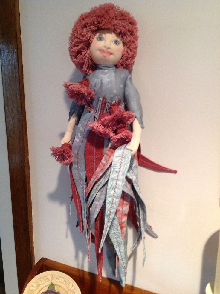 "My first sculptured fabric doll ""Goddess of the Red Flowering Gum"""