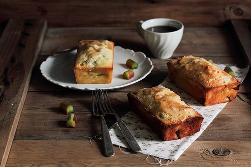 Rhubarb Vanilla Pound Cake by pastryaffair, via Flickr