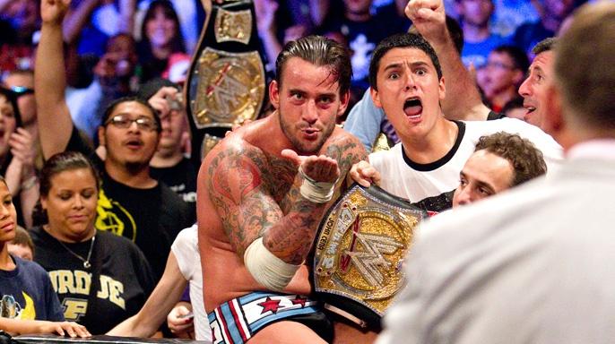 Wwe Kaitlyn And John Cena Kiss CM Punk kisses Vince M...