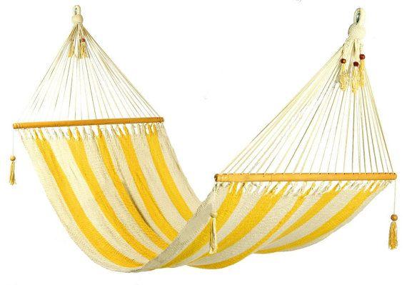 Stylish yellow and white stripes Hammock