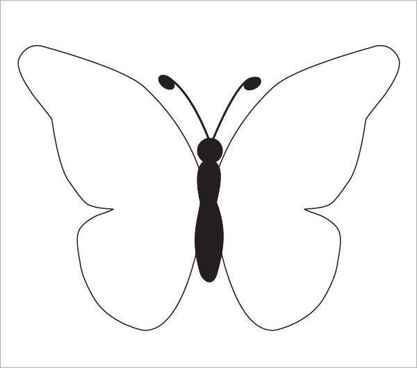 Best  Butterfly Template Ideas On   Butterfly Pattern