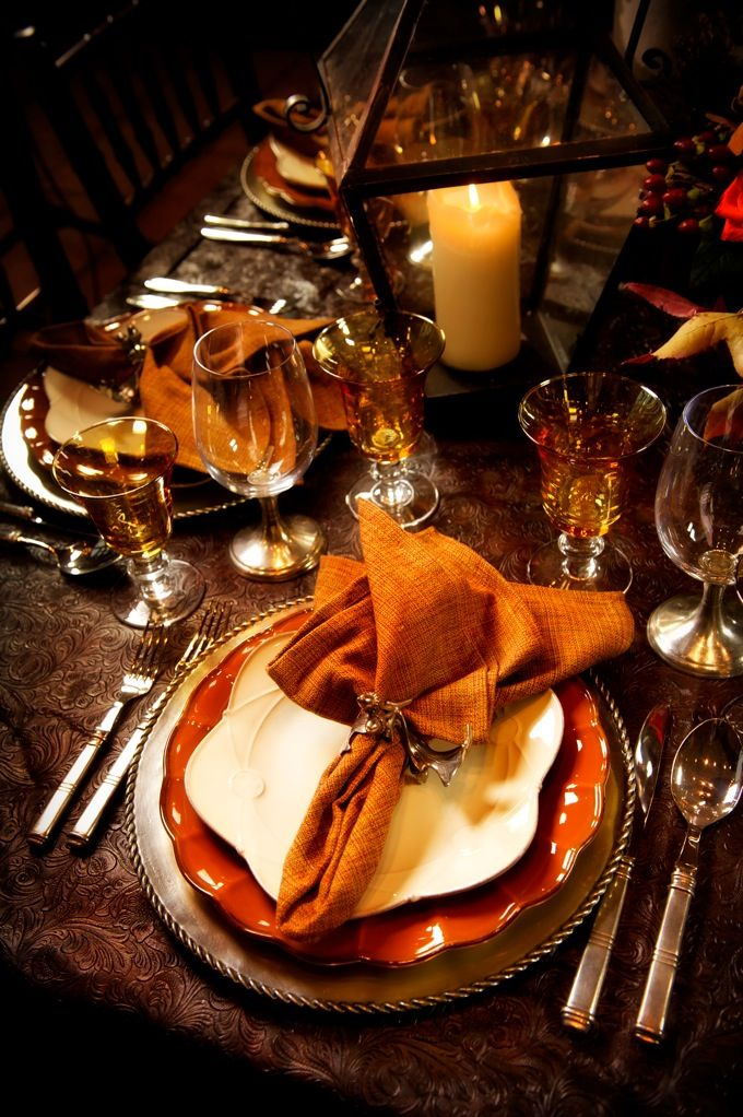 fall table | ... at Heritage Ranch Country Club » place setting wedding reception fall