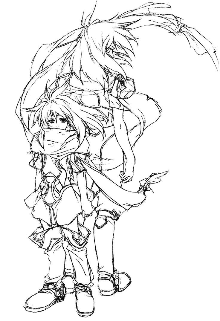 Emeralda Child & Adult Sketch