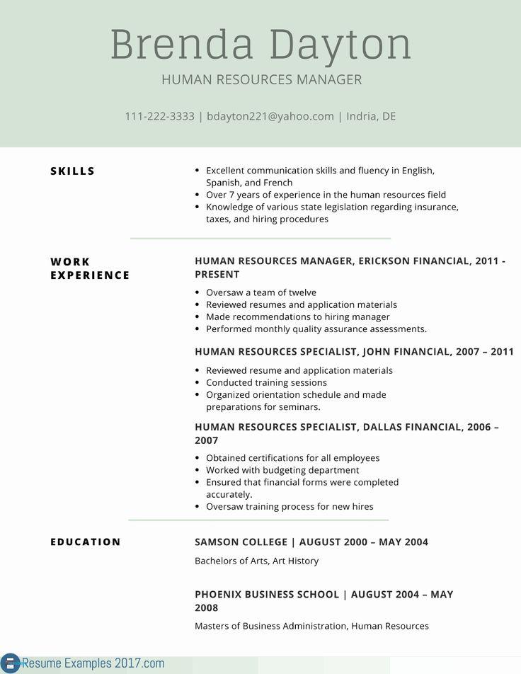 Good Examples Resumes Fresh New Resume Sample Best Resume