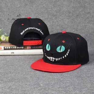 Alice in Wonderland Cheshire Cat cartoon baseball caps