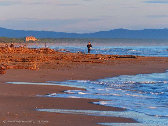 Castiglione della Pescaia beach Maremma in November Tuscany