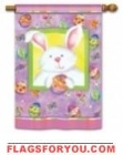 Happy Easter Bunny House Flag - 6 left