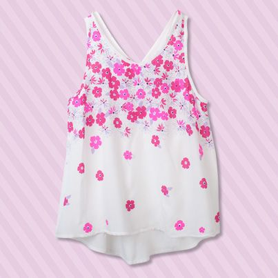 Pumpkin Patch Border Print Tank - available in sizes 5 to 12 years http://www.pumpkinpatchkids.com/