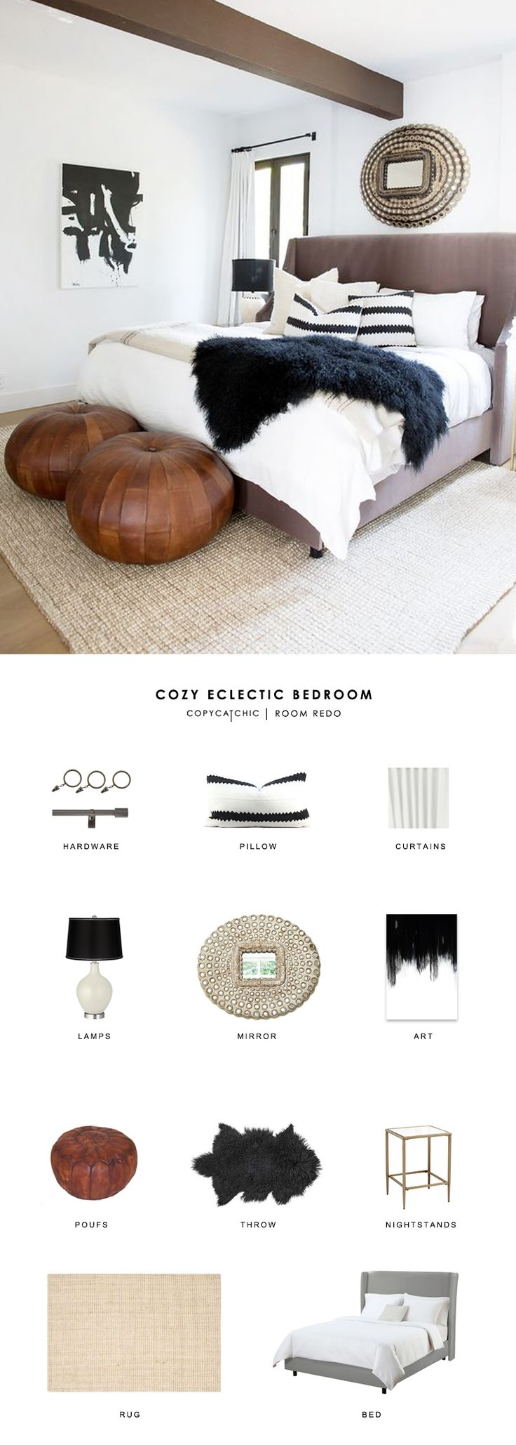 Copy Cat Chic Room Redo | Cozy Eclectic Bedroom | Copy Cat Chic | Bloglovin'