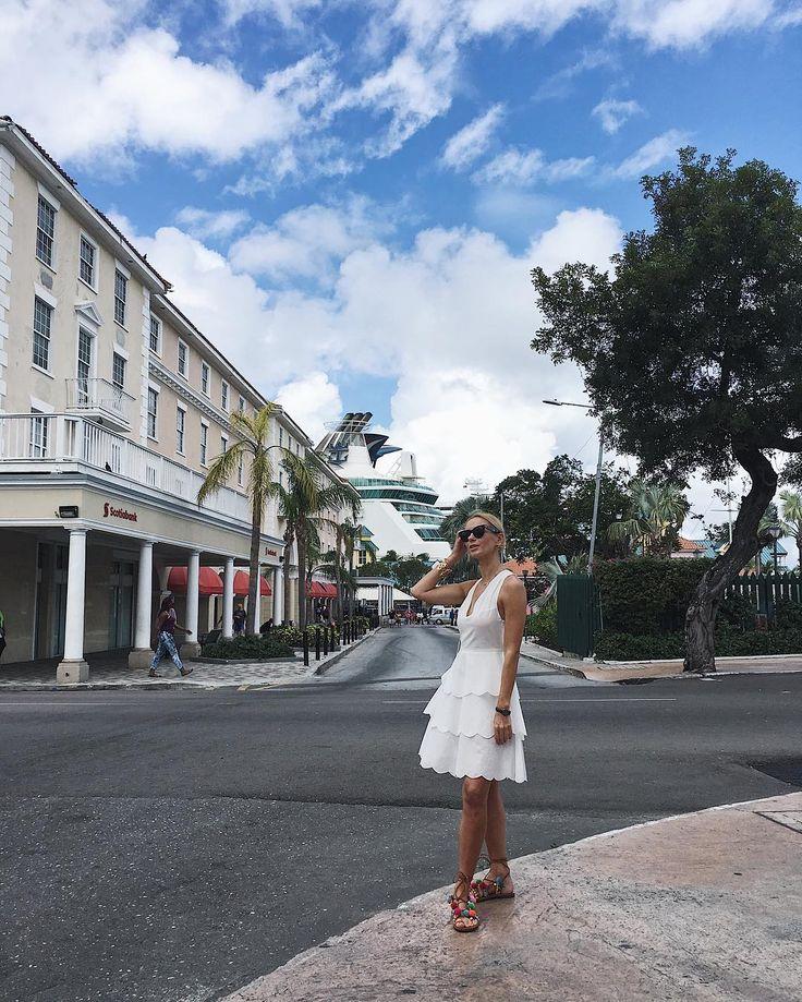 White summer dress/ Marysia Swim/ Celine sunnies/ Nassau Bahamas/ Disney Dream Cruise