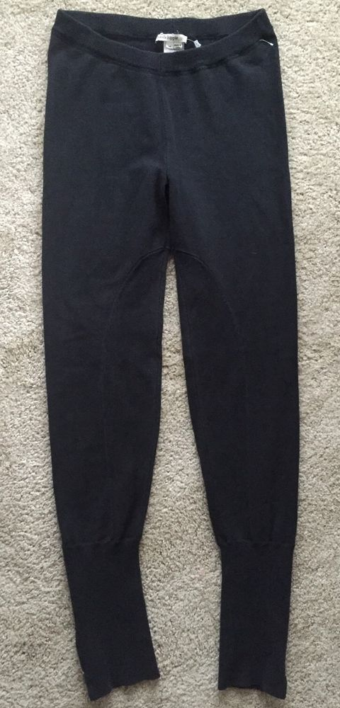 Haute Hippie Nude Black Ribbed Zipper Sweatpants Leggings ~EUC~ Size Medium  #HauteHippieNude #CasualPantsLeggings