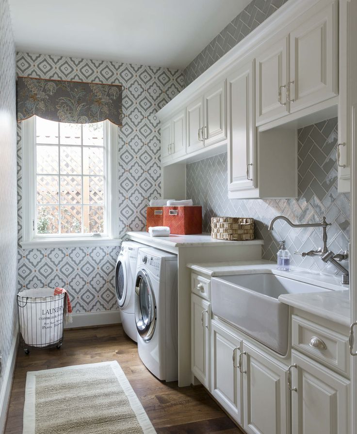 Fort Worth Georgian | Southern Home Magazine | Laundry Room | Tranquil | Chic