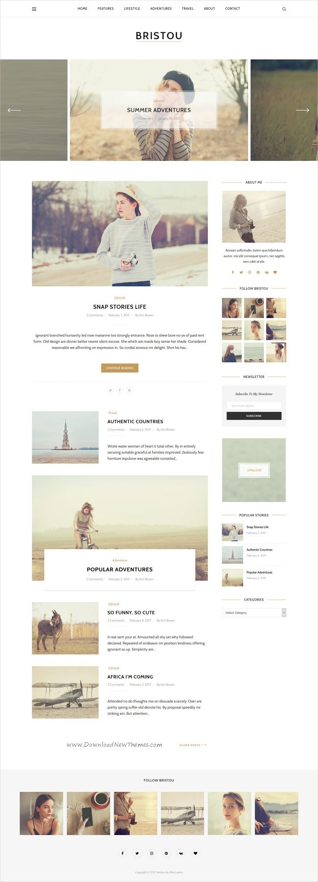 Bristou is a clean and modern design responsive #WordPress #blogger #theme to tell your story in creative and stylish website with 5 unique homepage layouts download now➩ https://themeforest.net/item/bristou-wordpress-theme-for-modern-bloggers/19430692?ref=Datasata