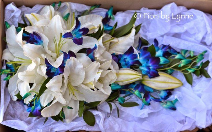 Wedding Flowers Blog: Emma's Striking Blue-Turquoise _ White Wedding Flowers, Gosport Submarine Museum
