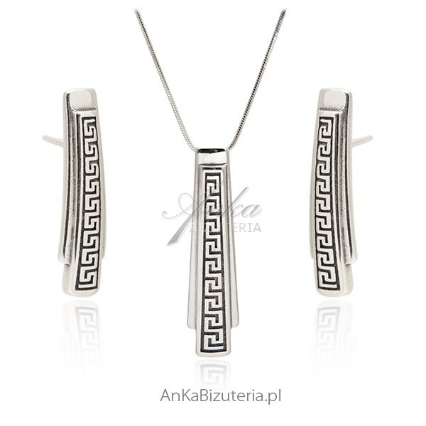 Biżuteria srebrna wzór grecki
