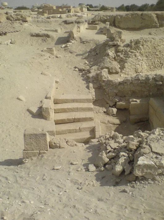 Barbar Temple, ca. 2100 to 2000 BCE Remains of a prehistoric temple in the village of Barbar, Bahrain.  The Barbar Temple is an archaeological site loca... - Octave Alexandre - Google+