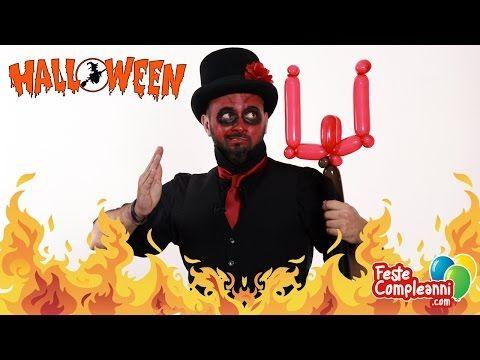 Balloon Halloween decoration - Forca del Diavolo con Palloncini - Tutorial 23 - Feste Compleanni - YouTube