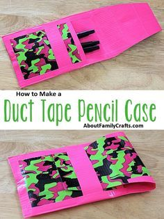 How to Make a Duct Tape Pencil Case | About Family Crafts