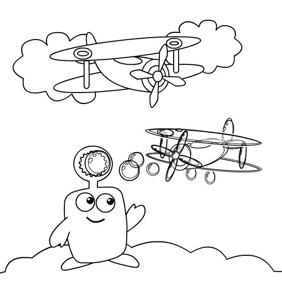 Bloop And Loop Coloring Pages Coloring Pages Baby First Tv Free Printable Coloring Pages