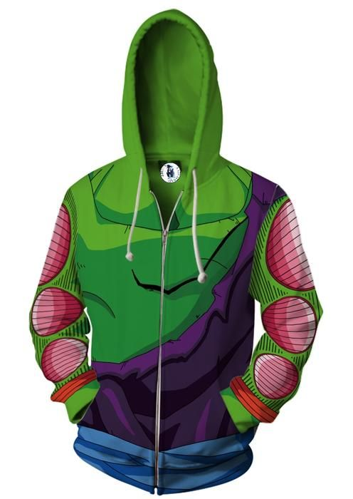 2019 New Autumn Winter 3d Printed Hoodies Dragon Ball Z Piccolo Cosplay Zip Up Hoodie Jacket Clothing Hoodies & Sweatshirts