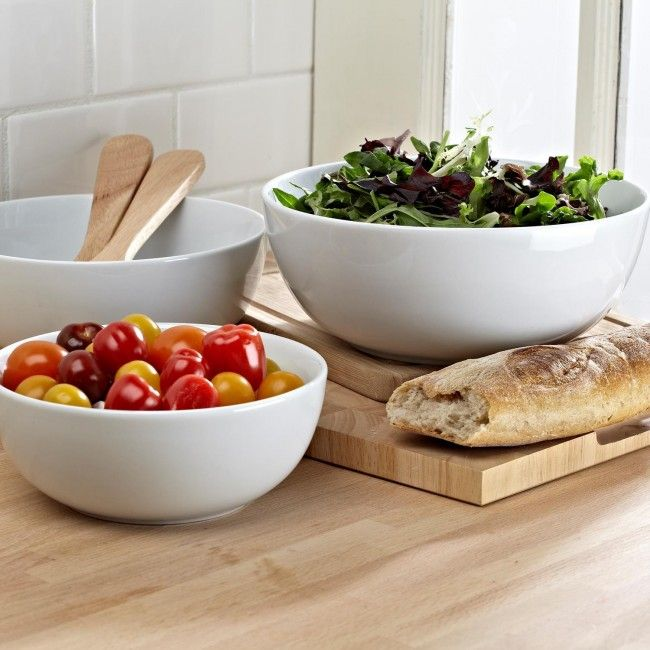 Our Aurora set 3 serving bowls are an ideal compliment to any table setting.   Our Aurora set 3 serving bowls are an ideal compliment to any table setting.   The 3 sizes are perfect for all manner of side dishes. From assortments of roasted vegetables to salads, these bowls are an essential addition to your kitchen.