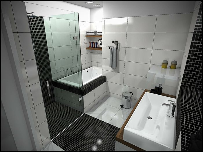 25+ best badezimmer schwarz ideas on pinterest, Badezimmer dekoo
