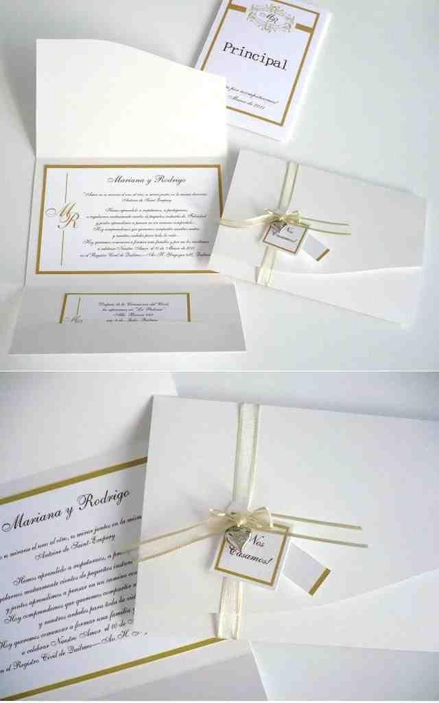 Conjunto de invitaciones de boda sencillas y económicas