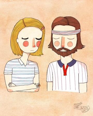 Personagens de Wes Anderson. Nan Lawson.