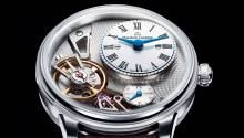 The watchmakers behind the Maurice Lacroix Masterpiece Gravity (mauricelacroix.com) probably would say that the timepiece's premier feature is its escapement, which is made of silicon (instead of steel), the friction-free material that watch brands have been experimenting with for more than a decade. But in its efforts to make this slightly iridescent assembly more visible, the brand has created a very contemporary watch design that is more likely than the escapement to draw admiration. The…