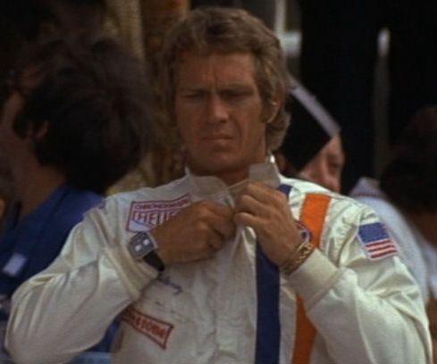 McQueen wearing Tag Heuer Monaco watch