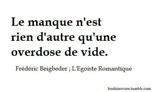"""Frédéric Beigbeder """"L'Égoïste Romantique"""""""