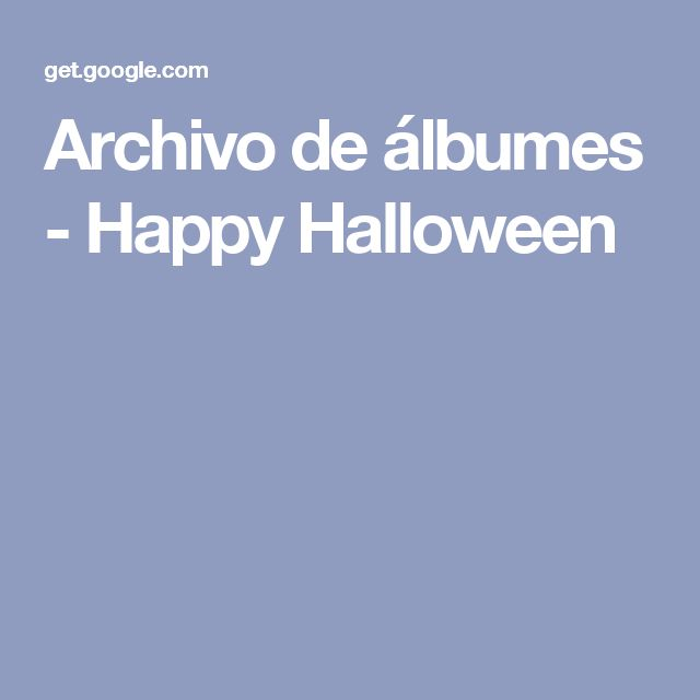Archivo de álbumes - Happy Halloween